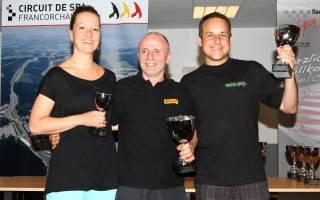Petra Wiese, Edy Kamm und Christian Ladurner freuen sich übers Treppchen