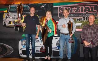 Die Sieger der drei Divisionen - T.Klimmer, V.Froß und U. Becker mit Serienchef Rolf Krepschik